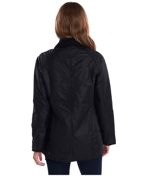 Women's Barbour Beadnell Wax Jacket - Black