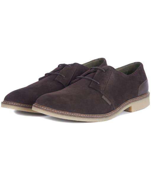 Men's Barbour Gobi Desert Shoes - Chocolate Suede
