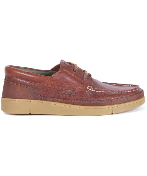 Men's Barbour Joey Leather Shoes - Cognac Texas