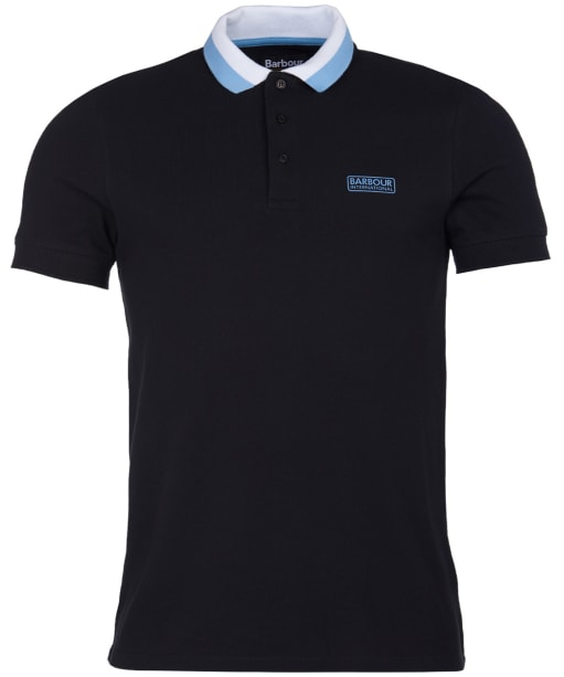 Men's Barbour International Ampere Polo - Black / Blue