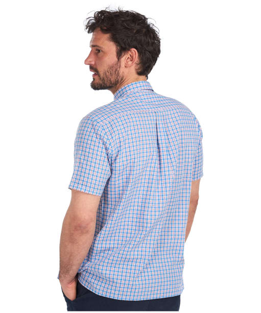Men's Barbour Country Check 11 S/S Summer Shirt - Sky Check