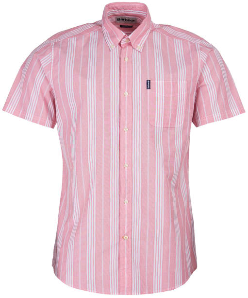 Men's Barbour Stripe 10 S/S Tailored Shirt - Red Stripe