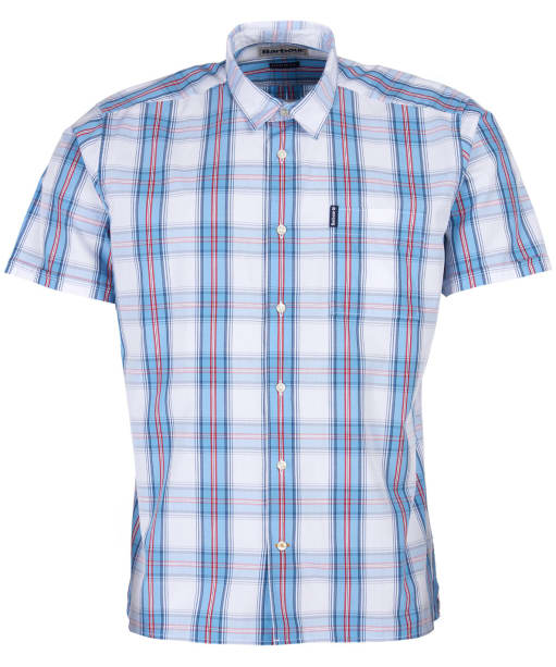 Men's Barbour Highland Check 30 S/S Summer Shirt - White Check
