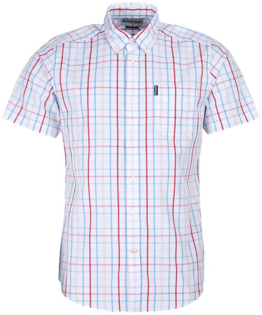 Men's Barbour Tattersall 18 S/S Tailored Shirt - White Check
