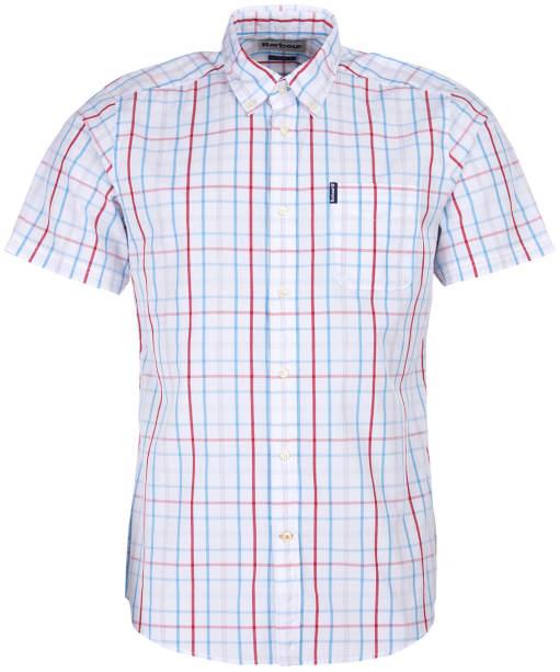 Men's Barbour Tattersall 18 S/S Tailored Shirt - White Check