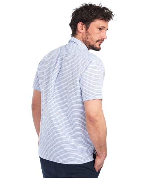 Men's Barbour Linen Mix 5 S/S Summer Shirt - Sky