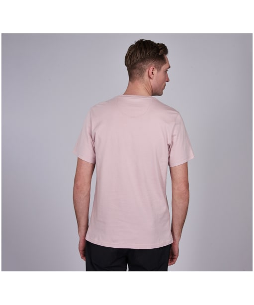Men's Barbour International Essential Large Logo Tee - Dusk Pink