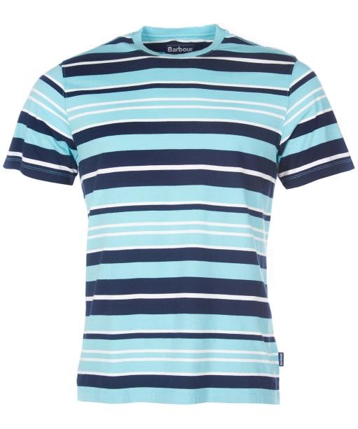 Men's Barbour Port Stripe Tee - Nile Blue