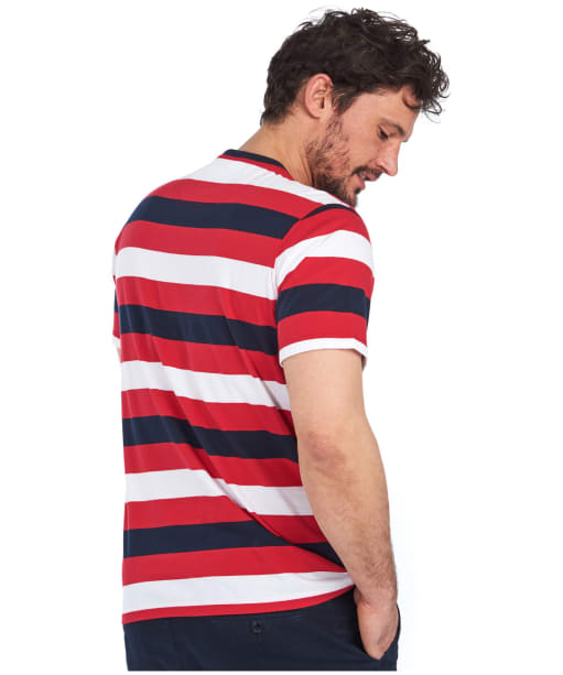 Men's Barbour Duridge Stripe Tee - SALSA