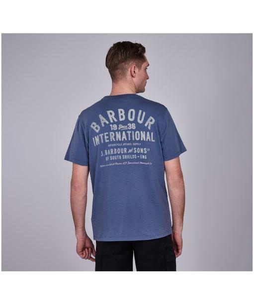 Men's Barbour International Visor Tee - Blue Metal