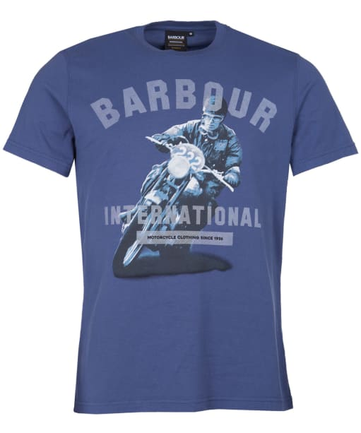 Men's Barbour International Frame Tee - BLUE METAL