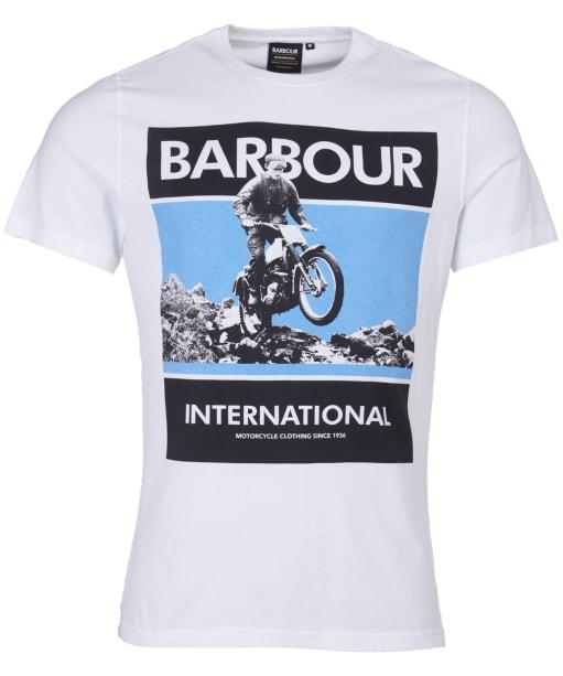 Men's Barbour International Frame Tee - White