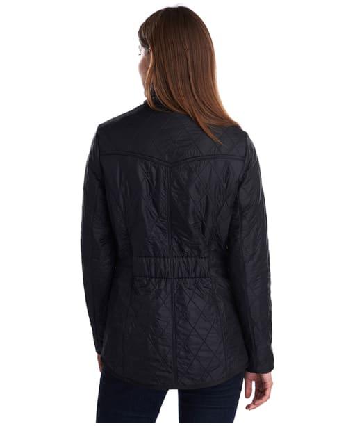 Women's Barbour Cavalry Polarquilt Jacket - Black