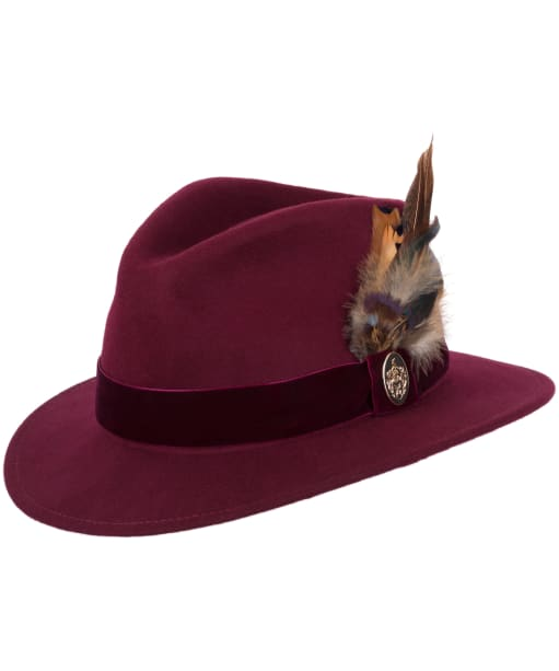 Women's Hicks & Brown The Chelsworth Fedora - Maroon