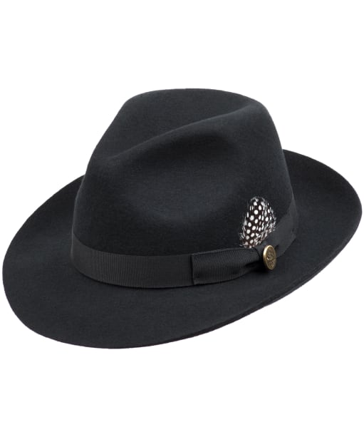 Women's Hicks & Brown The Thurlow Trilby – Guinea Feather - Black