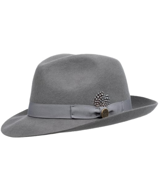 Women's Hicks & Brown The Thurlow Trilby – Guinea Feather - Grey
