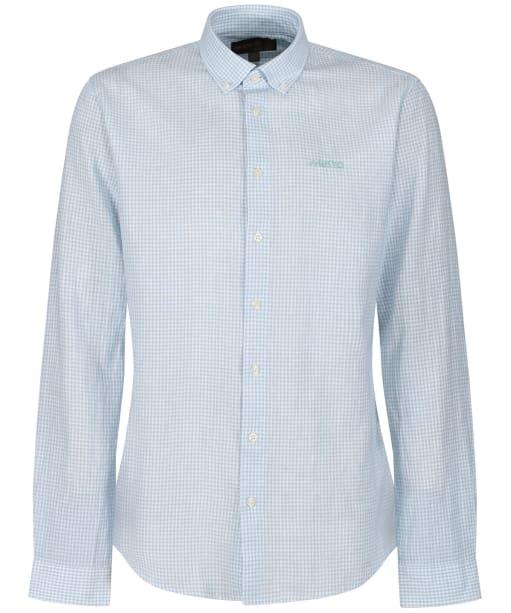 Men's Musto Lightweight Long Sleeve Gingham Shirt - Pale Blue Mini Gingham
