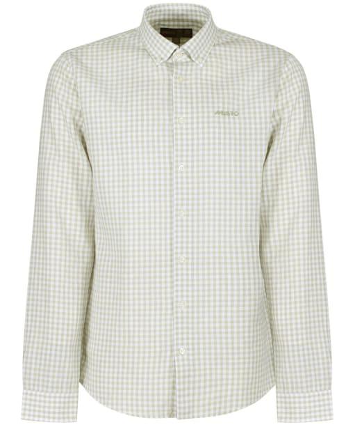 Men's Musto Lightweight Long Sleeve Gingham Shirt - Reed Grey Gingham