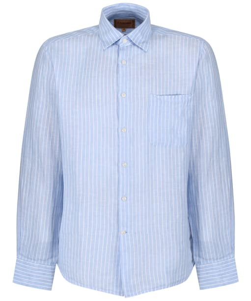 Men's Schoffel Thornham Shirt - Light Blue Stripe
