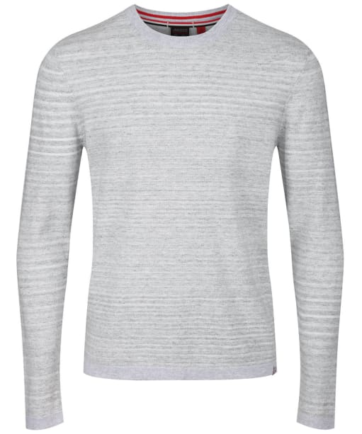 Men's Musto Amalgam Crew Neck Knit - Grey Marl / White