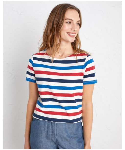 Women's Seasalt Sea Sailor T-Shirt - Tri Cornish Rudder Harbour