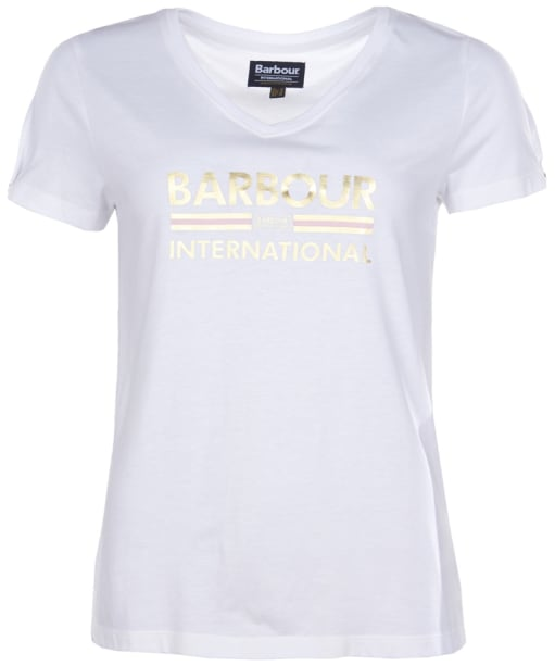 Women's Barbour International Hurricane Tee - White
