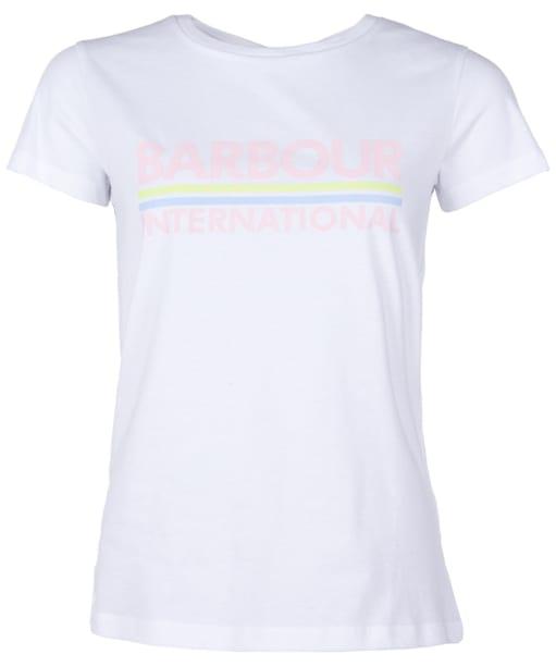Women's Barbour International Thunderbolt Tee - White