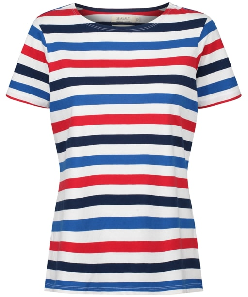 Women's Seasalt Sea Sailor T-Shirt - Tri Cornish Rudder Harbour