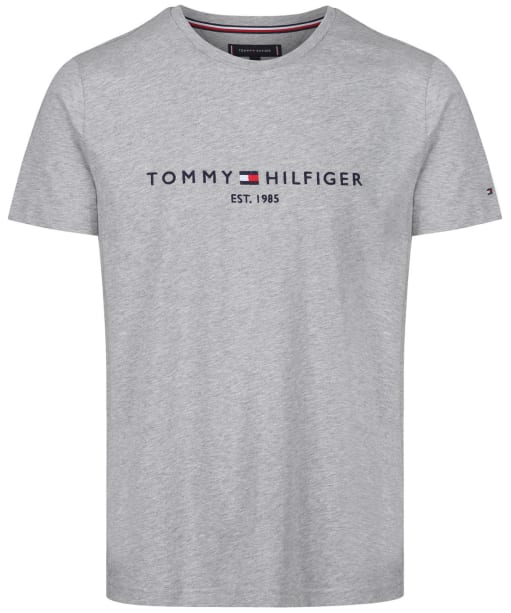 Men's Tommy Hilfiger Logo Tee - Cloud Heather