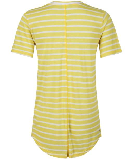 Women's Joules Lola Stripe Tee - White/Yellow Stripe