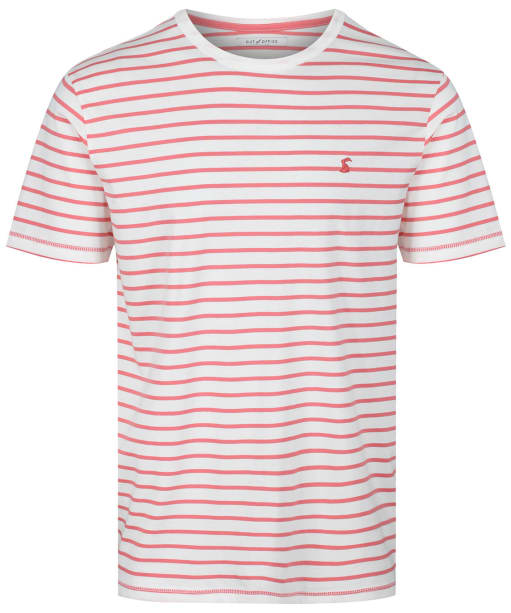 Men's Joules Boathouse Tee - WHITE/ORANG STR