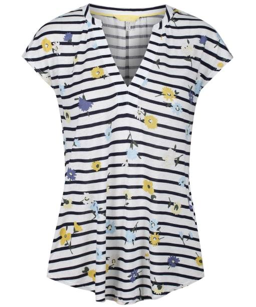 Women's Joules Ryder Print Vest - Navy Meadow Stripe