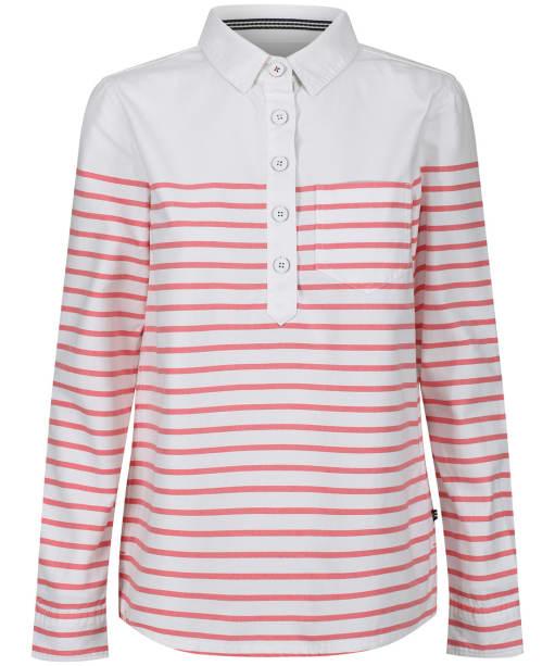 Women's Joules Ashbrook Stripe Deck Shirt - White / Red Stripe