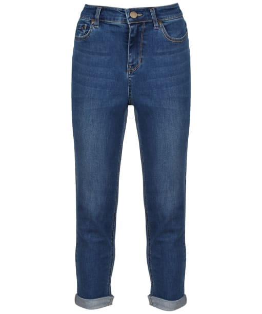 Women's Joules Monroe Cropped Skinny Stretch Jeans - Mid Blue