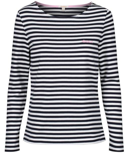 Women's Barbour Hawkins Stripe Top - Navy Stripe