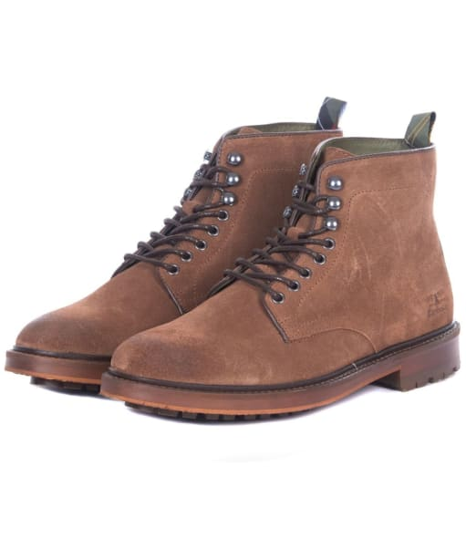 Men's Barbour Seaburn Derby Boots - Tobacco Suede