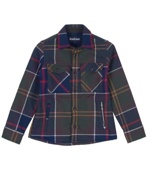Boys Barbour Tartan Overshirt, 6-9yrs - Classic Tartan