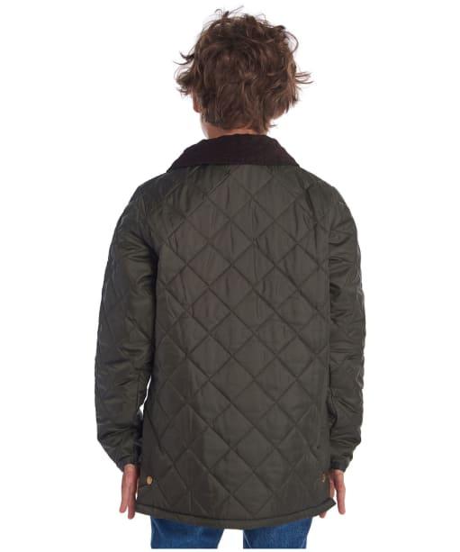 Boy's Barbour Liddesdale Quilted Jacket, 2-9yrs - Dark Olive