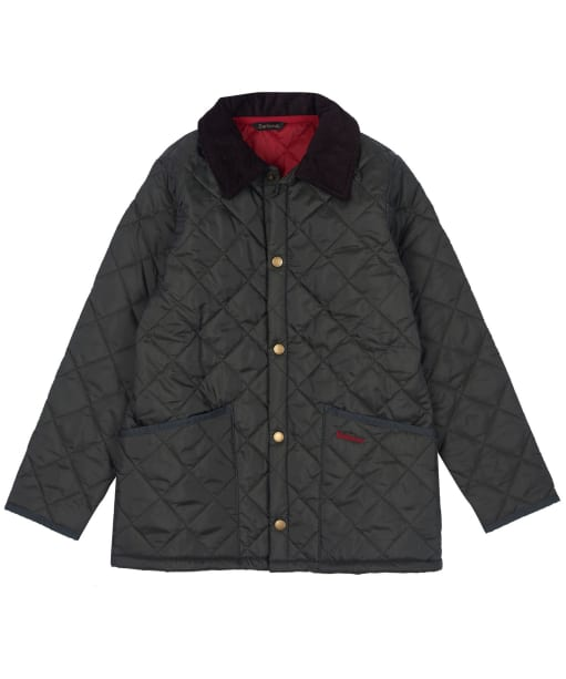 Boy's Barbour Liddesdale Quilted Jacket, 10-15yrs - Dark Olive