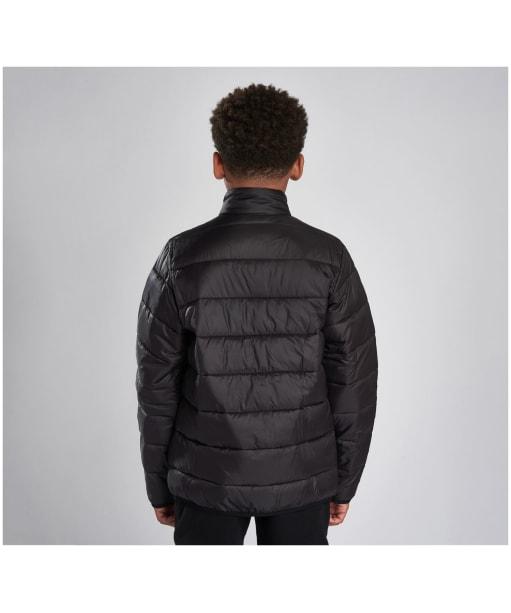 Boy's Barbour International Reed Quilted Jacket, 2-9yrs - Black / Orange