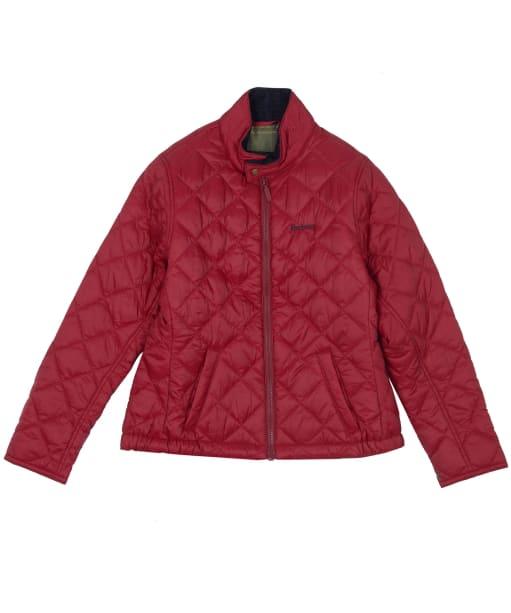 Boy's Barbour Biddel Quilted Jacket, 6-9yrs - Lobster Red