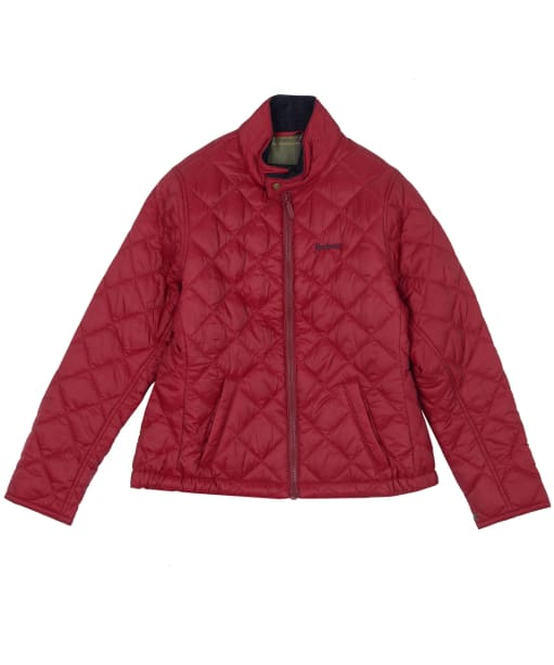 Boy's Barbour Biddel Quilted Jacket, 10-15yrs - Lobster Red