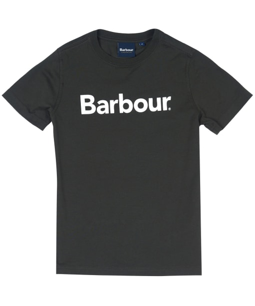 Boy's Barbour Logo Tee, 10-15yrs - Forest
