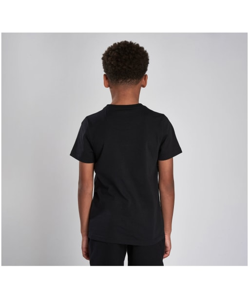 Boy's Barbour International Essential Large Logo Tee, 6-9yrs - New Black