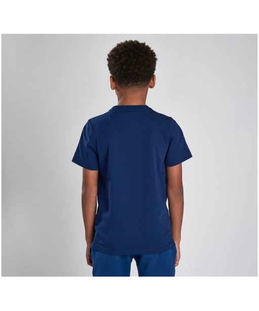 Boy's Barbour International Essential Large Logo Tee, 6-9yrs - Inky Blue