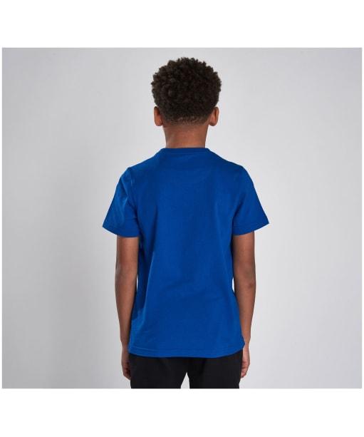Boy's Barbour International Block Logo Tee, 10-15yrs - Cobalt Blue