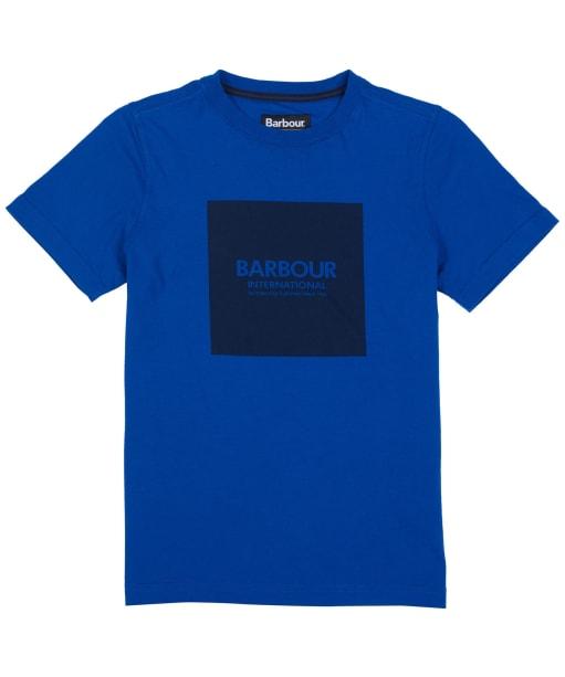 Boy's Barbour International Block Logo Tee, 6-9yrs - Cobalt Blue