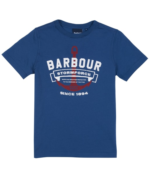 Boys Barbour Bowline T-shirt, 10-15yrs - Dark Denim