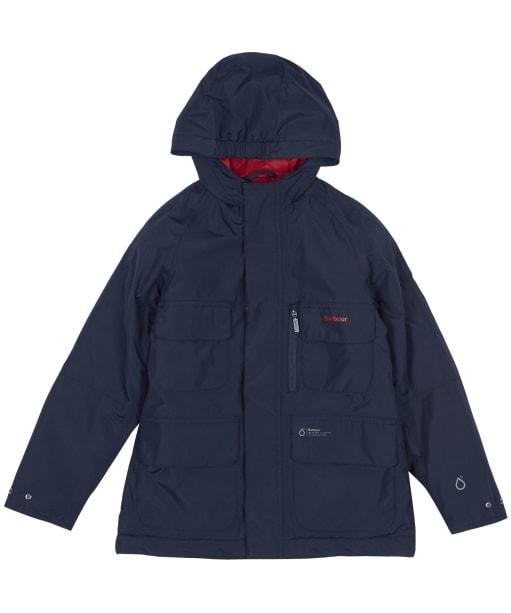 Boy's Barbour Deptford Waterproof Jacket, 10-15yrs - Navy