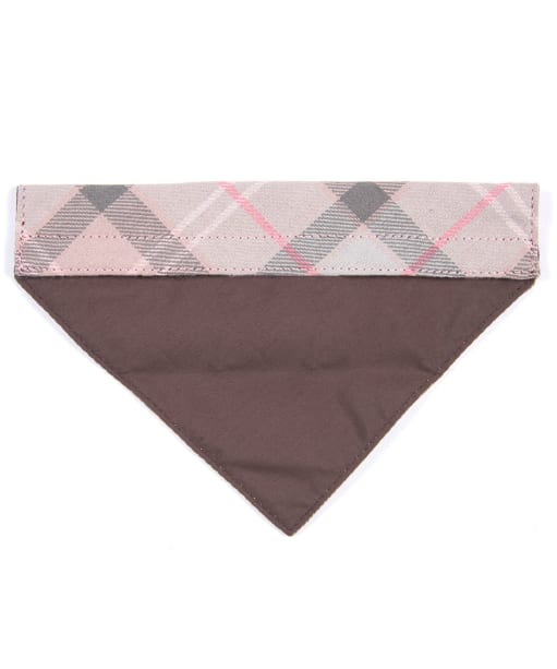 Barbour Tartan Dog Bandana - Taupe / Pink Tartan